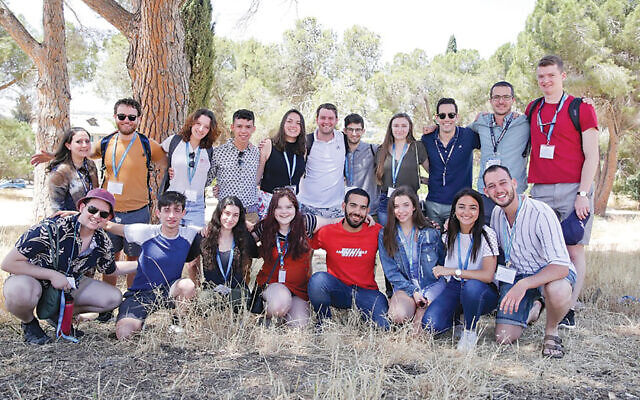 Maya Kessler is in the front row, fourth from left, and Samantha Marshak is pictured, third from the right in the front. (Courtesy Israel Free Spirit)