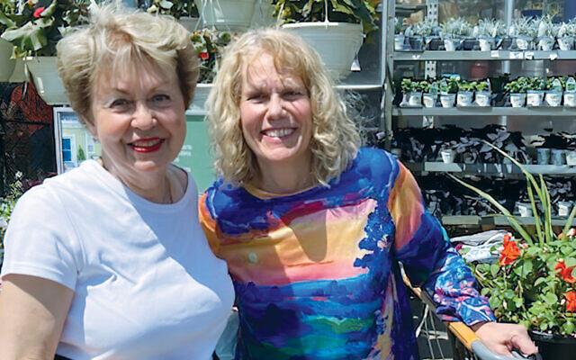 Linda Forgosh, left, with Suzi Wainer.  (Courtesy JHS)