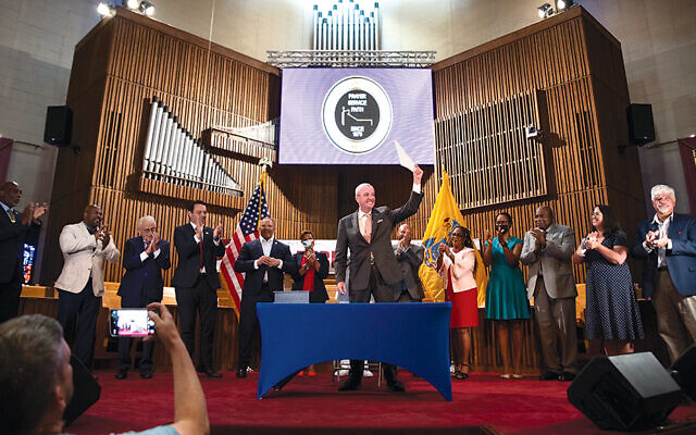 Governor Phil Murphy at the signing ceremony for the Fair Chance in Housing Act