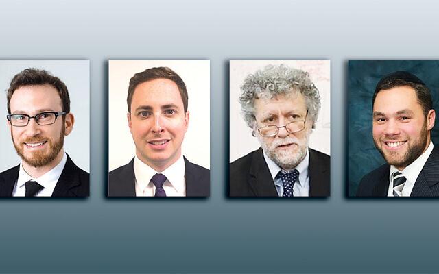 Adam Katz, left, Dan Mitzner, Dr. Steven Stein, and Rabbi Ami Neuman