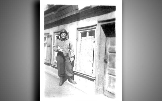 Rabbi Schacter, just after liberation, in Buchenwald.