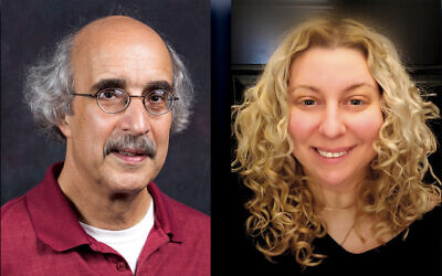 Dr. Dennis Klein, left, and Sarah-Kay Lacks
