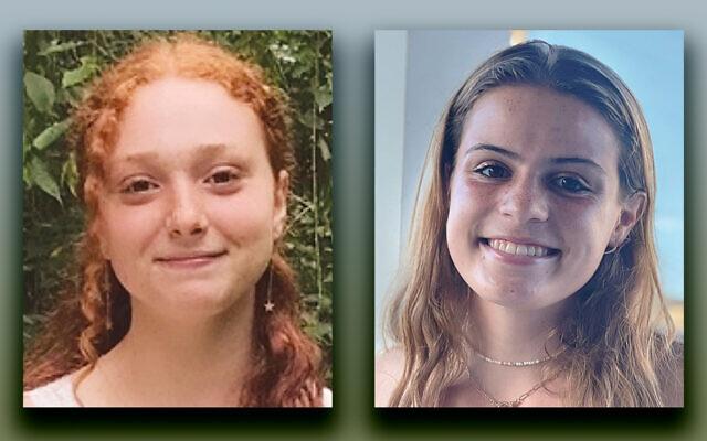 Sarah Gorman, left, and Alexandra Sinins
