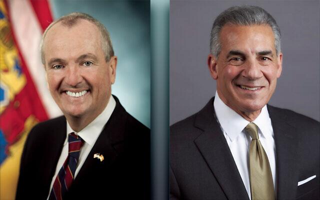 Phil Murphy, left, and Jack Ciattarelli