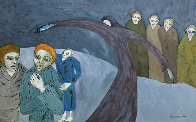 Jerzy Bitter was a child survivor and proflic artist; all of his work is about the Holocaust.