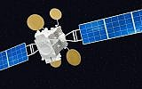 A rendering of the Amos 5 satellite (CC BY-SA Andrzej Olchawa/Wikimedia Commons)