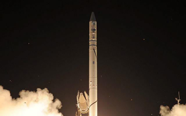 "The launch of Israeli military satellite ""Ofek 9"", (photo credit: by Ministry of Defence/Flash90)"