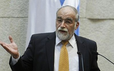 MK David Rotem proposed a bill that would requiere all MKs to pledge allegiance. Photo credit: Miriam Alster/Flash90