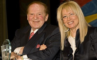 Illustrative: Sheldon and Miriam Adelson, January 2012. (Union 20)