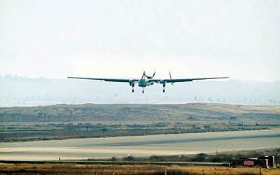 File: Illustrative photo of a drone (photo credit: IDF Spokesperson)