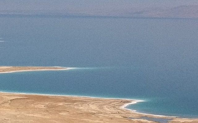 A view of the Dead Sea (photo credit: Michal Shmulovich/Times of Israel staff)
