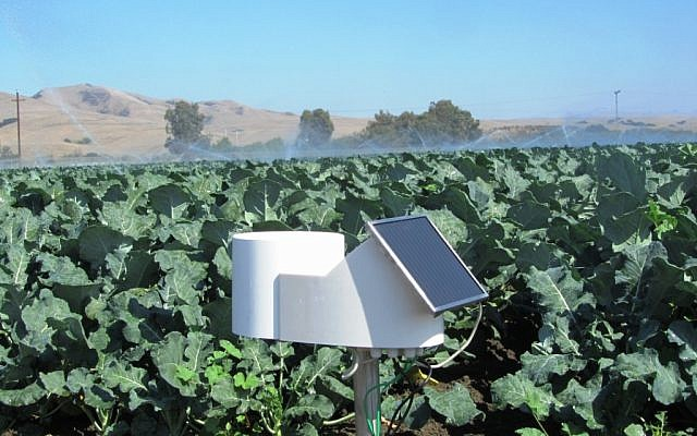 One of Agrolan's field weather stations (photo credit: Courtesy)