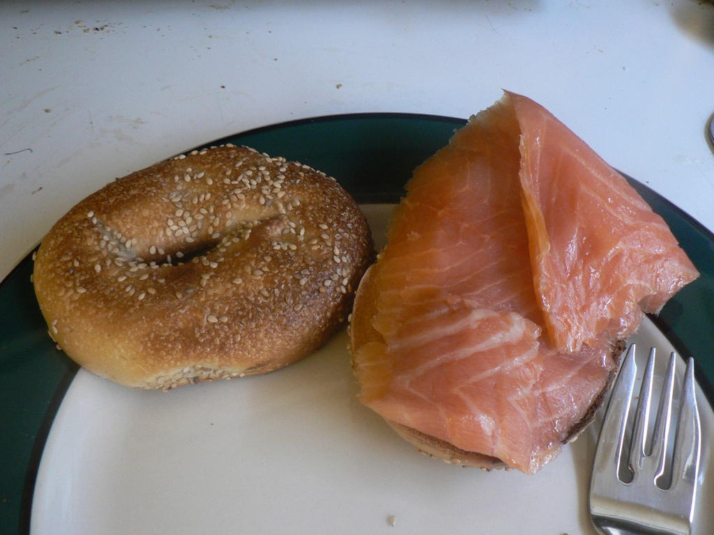 Bagels and lox. (photo credit: CC BY-SA stu_spivack, Flickr)