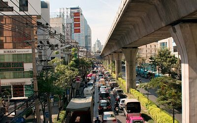 Sukhumvit road in Bangkok, where the bombing happened. (photo credit:CC-BY Christian Haugen, Flickr)