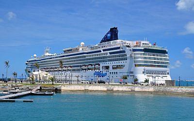 An Israeli cruise ship (Illustrative photo; credit: CC BY kansasphoto, Flickr)