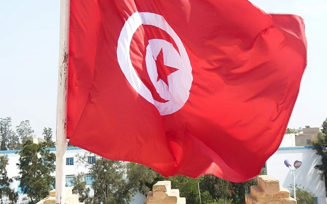 A Tunisian flag (photo credit: CC BY Bellyglad, Flickr)