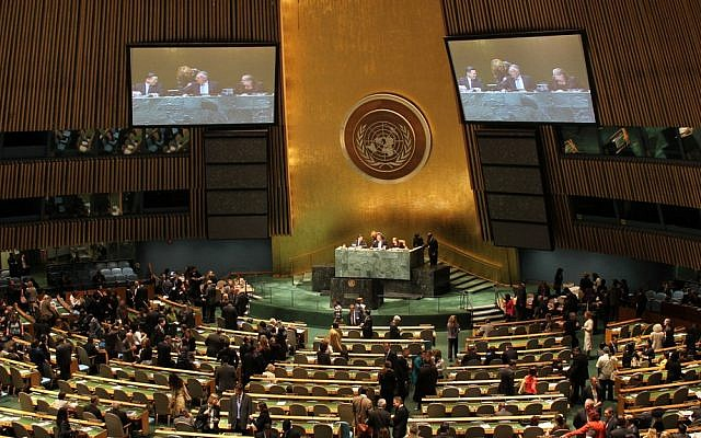 The UN General Assembly (photo credit: CC BY linh.m.do, Flickr)