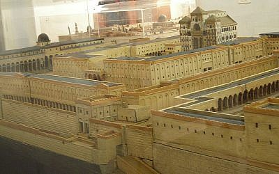 Schick's model of the Jewish Temple. (photo credit: CC-BY-SA Dror Feitelson, Wikipedia)
