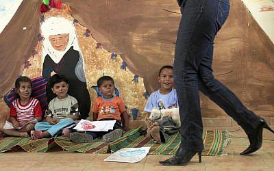 A  makeshift Bedouin nursery south of Beer Sheva (photo credit: Tsafrir Abayov/Flash90)