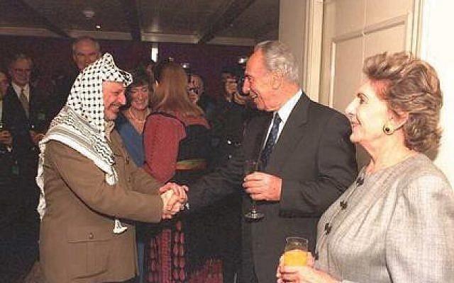 Arafat and Peres (GPO)