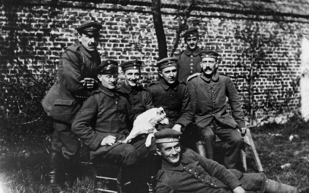 Adolf Hitler and fellow soldiers during World War I. (Photo credit: Bundesarchiv/Public Domain)