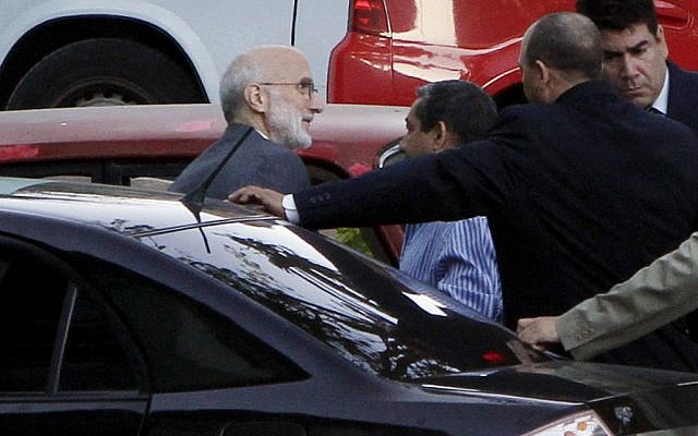 USAID worker Alan Gross arriving at a Havana courthouse for his trial in March 2011. (photo credit: AP Photo/Franklin Reyes, File)