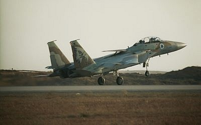An Israel Air Force F-15i. (Photo credit: Tsahi Ben-Ami / Flash 90)