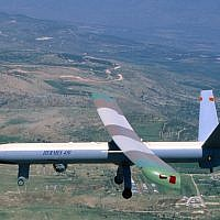An Israeli Air Force drone, Hermes 450 UAV, manufactured by Elbit (photo credit: Elbit via Tsahi Ben-Ami/Flash 90)