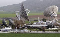 A Bezeq satellite station in the Ella valley (photo credit: Nati Shohat/Flash90)