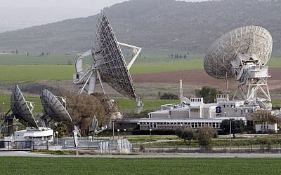 A Bezeq satellite station in the Ella valley (photo credit: Nati Shohat/Flash90)