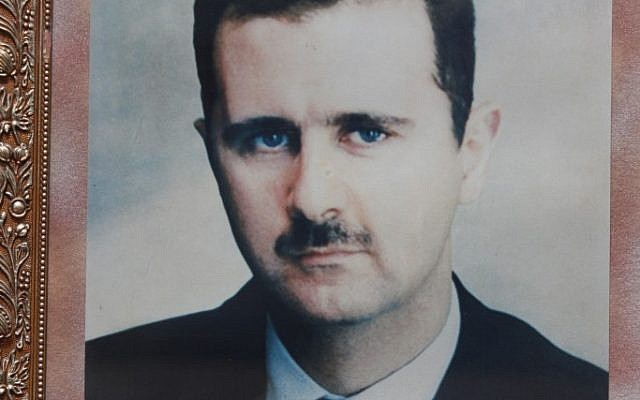 A picture of Bashar Assad (photo credit: Yossi Zamir/ Flash90)
