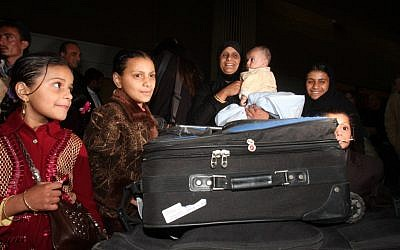 New immigrants from Yemen arriving in Israel in 2009 (photo credit: Roni Schutzer/Flash90)