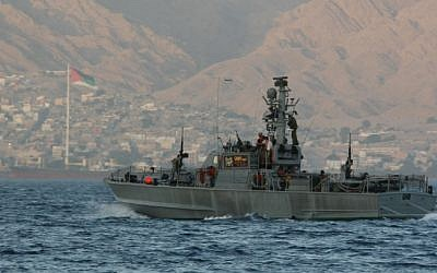 An illustrative photo of a navy vessel in the Red Sea (photo credit: Anna Kaplan/Flash 90)