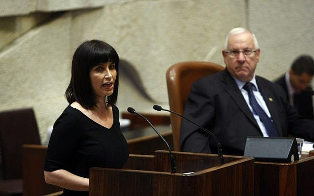 Einat Wilf during a session of the Israeli parliament in Jerusalem in 2010. (Photo credit: Abir Sultan/Flash90)
