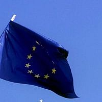 The European Union flag  (Serge Attal/Flash 90)