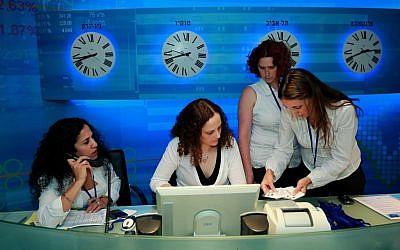 Tel Aviv Stock Exchange (photo credit: Moshe Shai/Flash90)