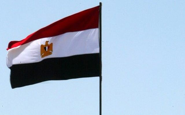 The Egyptian flag. (photo credit: Abed Rahim Khatib/Flash90)
