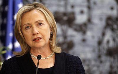 US Secretary of State Hillary Clinton (photo credit: Miriam Alster/Flash90)