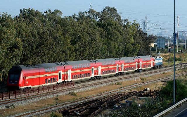 Illustrative photo of an Israeli train (photo credit: Moshe Shai/Flash90)