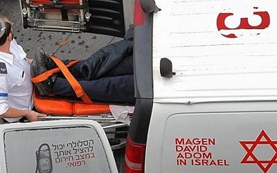 Illustrative photo of a mobile Magen David Adom unit (photo credit: Nati Shohat/Flash90)