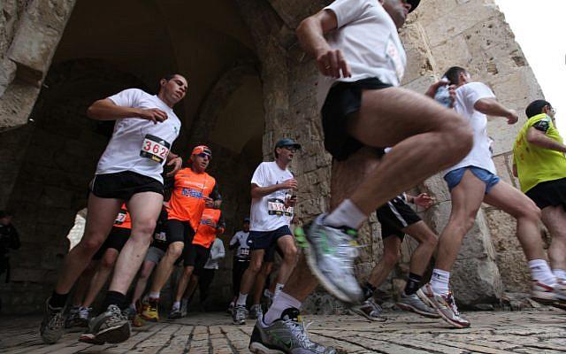 Runners in the Jerusalem marathon on March 25, 2011. (Kobi Gideon/Flash 90)