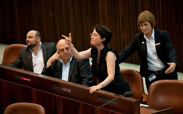 Arab-Israeli MK Hanin Zoabi. (photo credit: Omer Miron/Flash90)