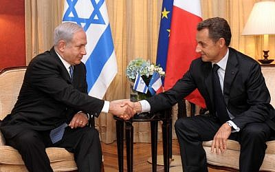 PM Benjamin Netanyahu meets with French President Nicolas Sarkozy (photo credit: Avi Ohayon / GPO / Flash90)