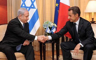French president Nicolas Sarkozy meets Prime Minister Benjamin Netanyahu in Jerusalem in Sept 2011 (photo credit: Avi Ohayon/GPO/FLASH90)