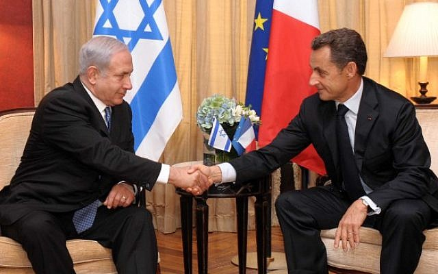 French president Nicolas Sarkozy meets Prime Minister Benjamin Netanyahu in Jerusalem in Sept 2011 (photo credit: Avi Ohayon/GPO/FLASH90)