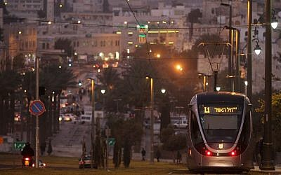 Jerusalem's light rail, which connects the eastern and western sides of the city. (photo credit: Nati Shohat/Flash90)
