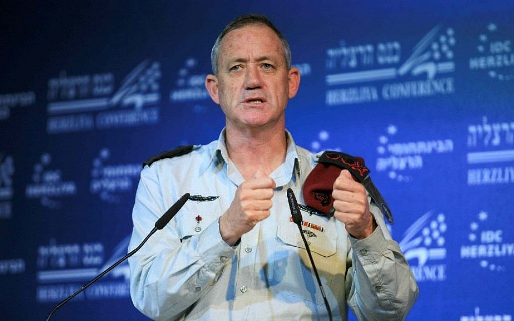 IDF Chief of General Staff Benny Gantz in 2012. (photo credit: Yehoshua Yosef/Flash90)