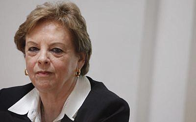 Outgoing Supreme Court Justice Dorit Beinisch, weeks before her resignation.  (photo credit: Miriam Alster/Flash90)