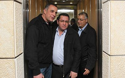 Histadrut Chairman Ofer Eini leaving National Labor Court on Wednesday (photo credit: Nati Shohat/Flash90)