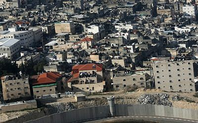 Shuafat, in northern Jerusalem, as viewed from the air.  (photo credit: Kobi Gideon/Flash90)
